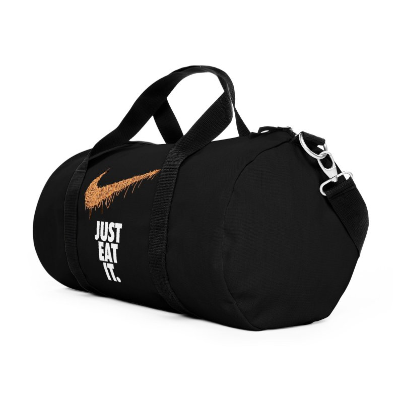 Just Eat It_Spaguetti Accessories Duffel Bag Bag by Opippi