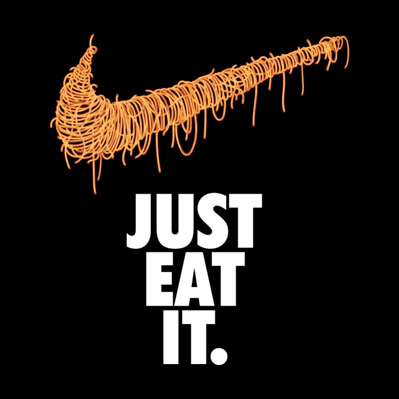 Just Eat It_Spaguetti Kids T-Shirt by Opippi