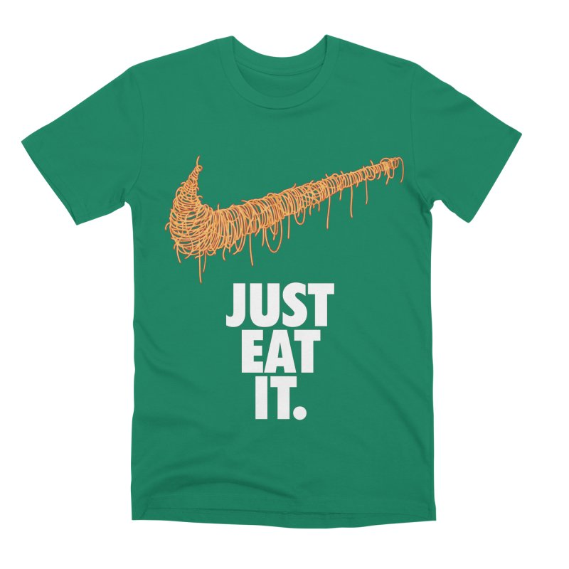 Just Eat It_Spaguetti Men's T-Shirt by Opippi