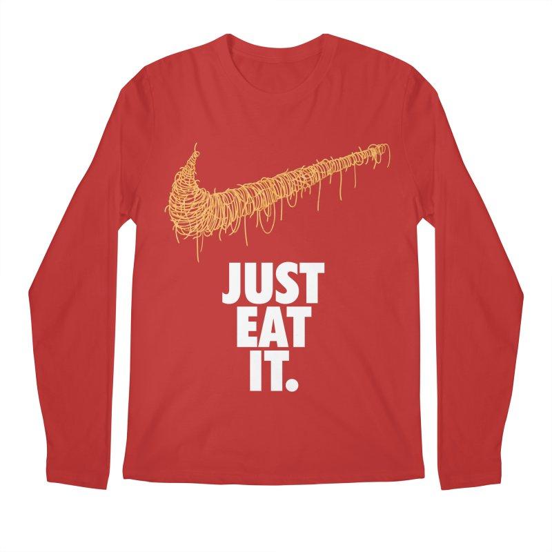 Just Eat It_Spaguetti Men's Regular Longsleeve T-Shirt by Opippi