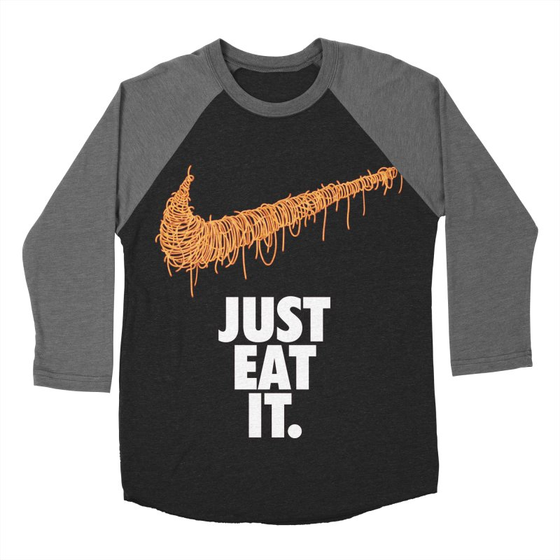 Just Eat It_Spaguetti Women's Baseball Triblend Longsleeve T-Shirt by Opippi