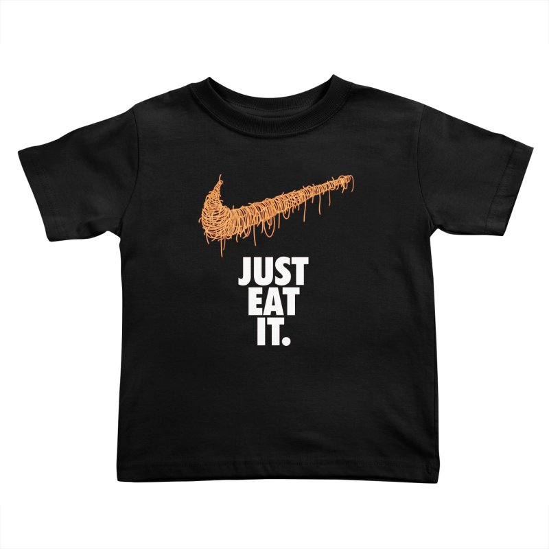 Just Eat It_Spaguetti Kids Toddler T-Shirt by Opippi
