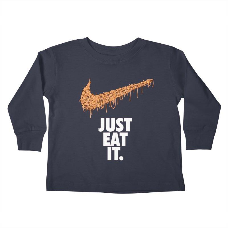 Just Eat It_Spaguetti Kids Toddler Longsleeve T-Shirt by Opippi