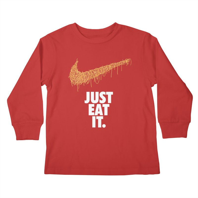 Just Eat It_Spaguetti Kids Longsleeve T-Shirt by Opippi