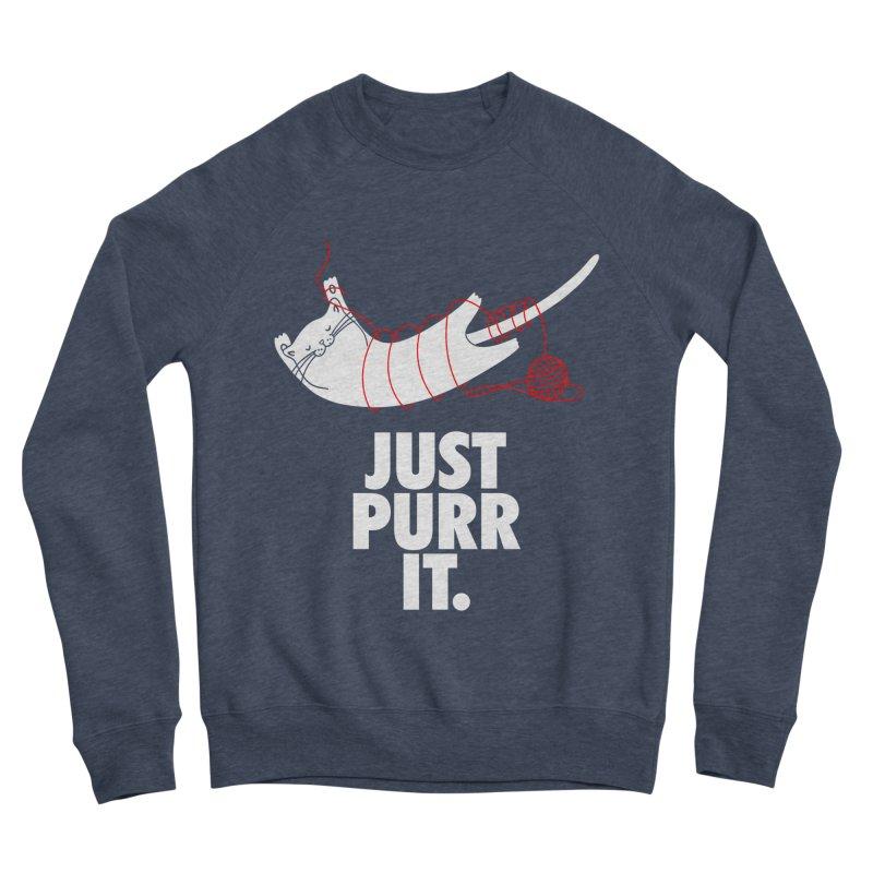 Just Purr It Men's Sponge Fleece Sweatshirt by Opippi
