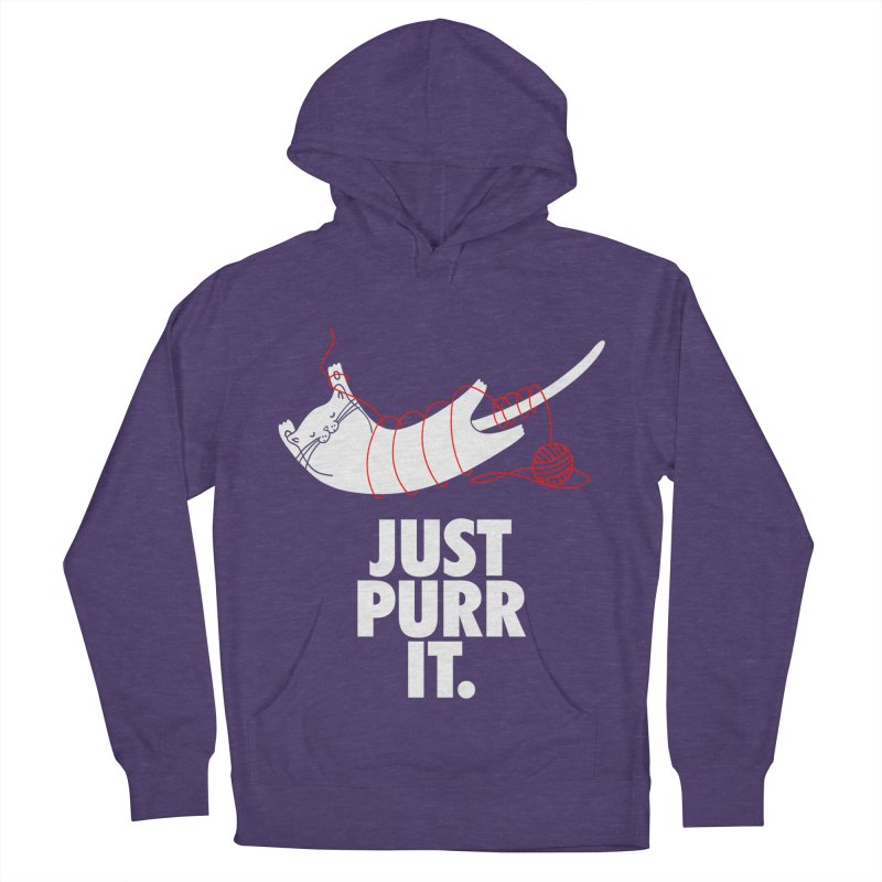 Just Purr It Women's French Terry Pullover Hoody by Opippi
