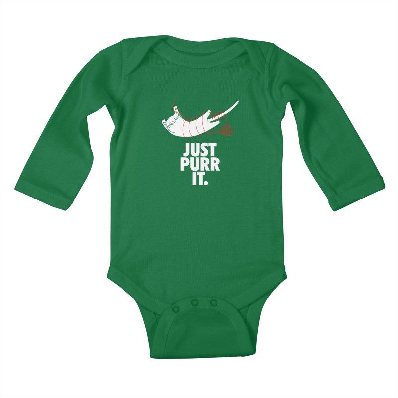Just Purr It Kids Baby Longsleeve Bodysuit by Opippi