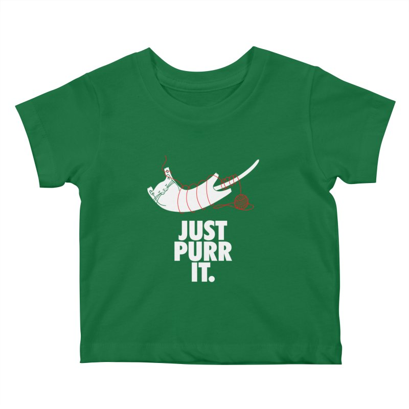 Just Purr It Kids Baby T-Shirt by Opippi