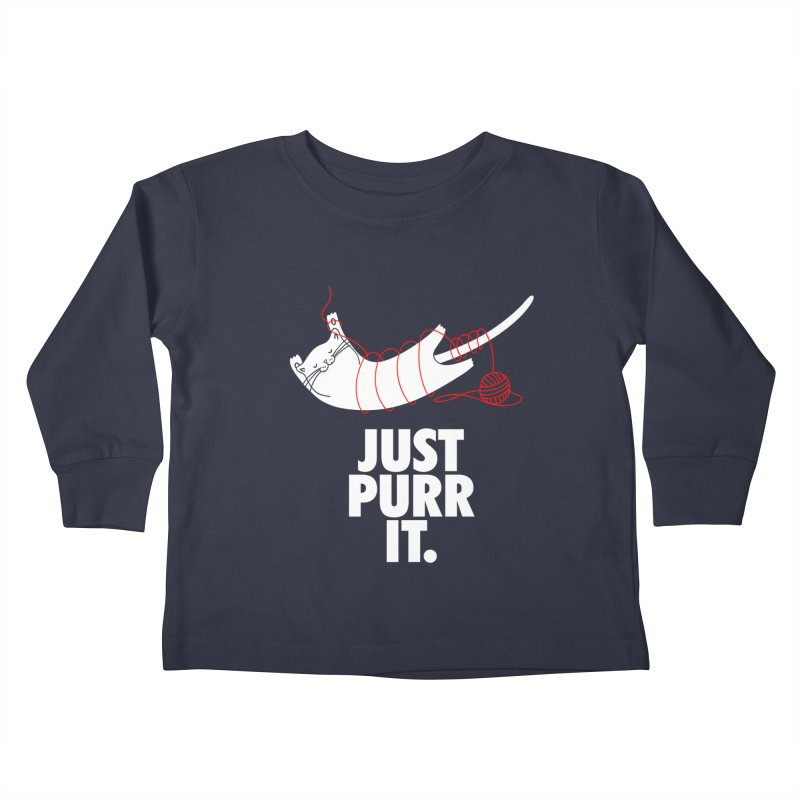 Just Purr It Kids Toddler Longsleeve T-Shirt by Opippi
