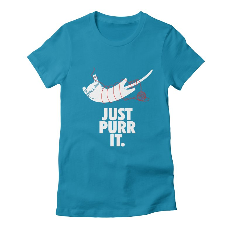 Just Purr It Women's Fitted T-Shirt by Opippi