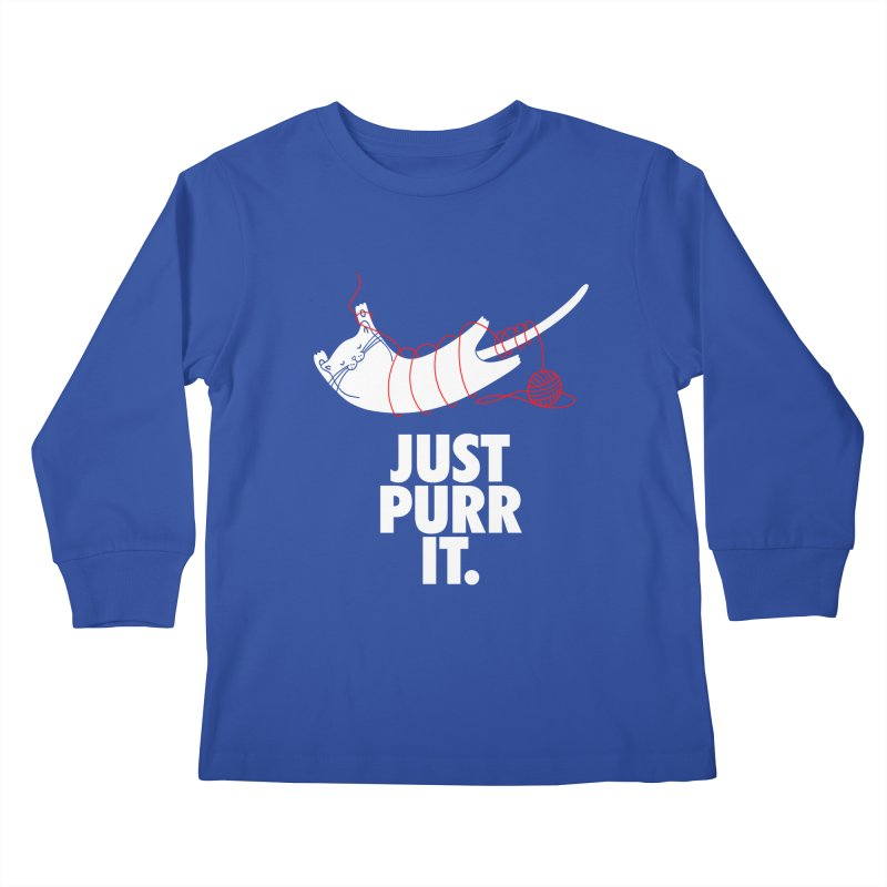Just Purr It Kids Longsleeve T-Shirt by Opippi
