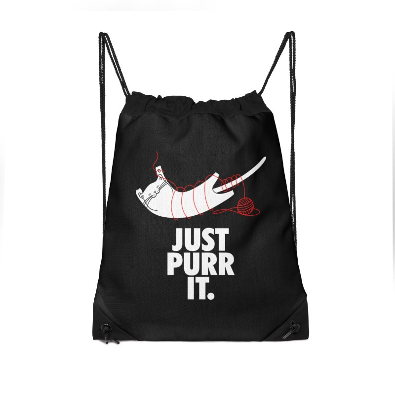 Just Purr It Accessories Drawstring Bag Bag by Opippi