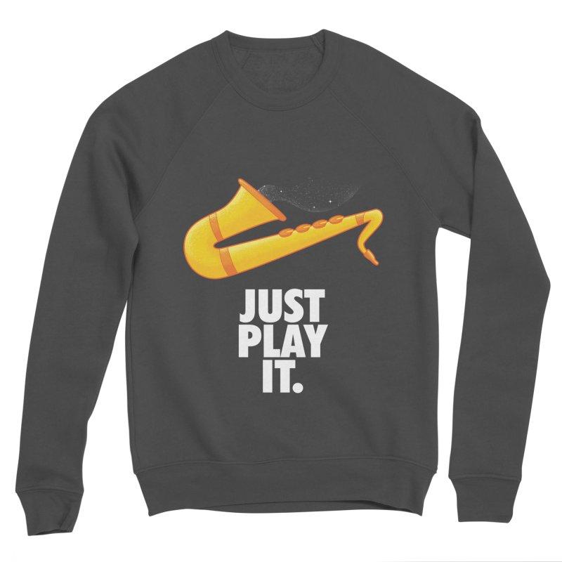 Just Play It Men's Sponge Fleece Sweatshirt by Opippi