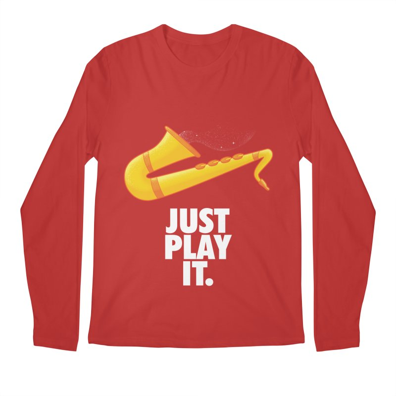Just Play It Men's Regular Longsleeve T-Shirt by Opippi