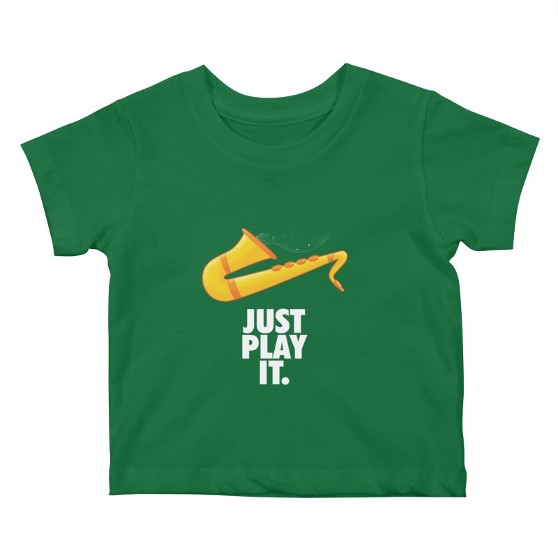 Just Play It Kids Baby T-Shirt by Opippi