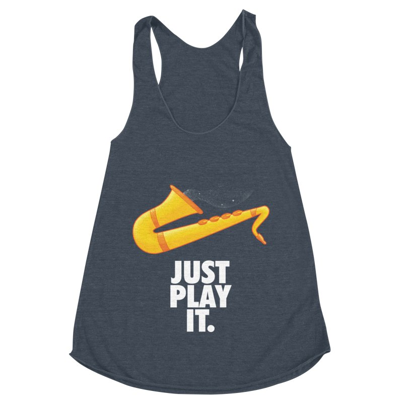 Just Play It Women's Racerback Triblend Tank by Opippi