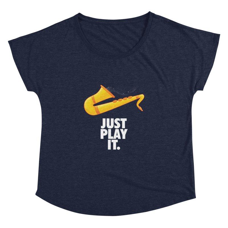 Just Play It Women's Dolman Scoop Neck by Opippi