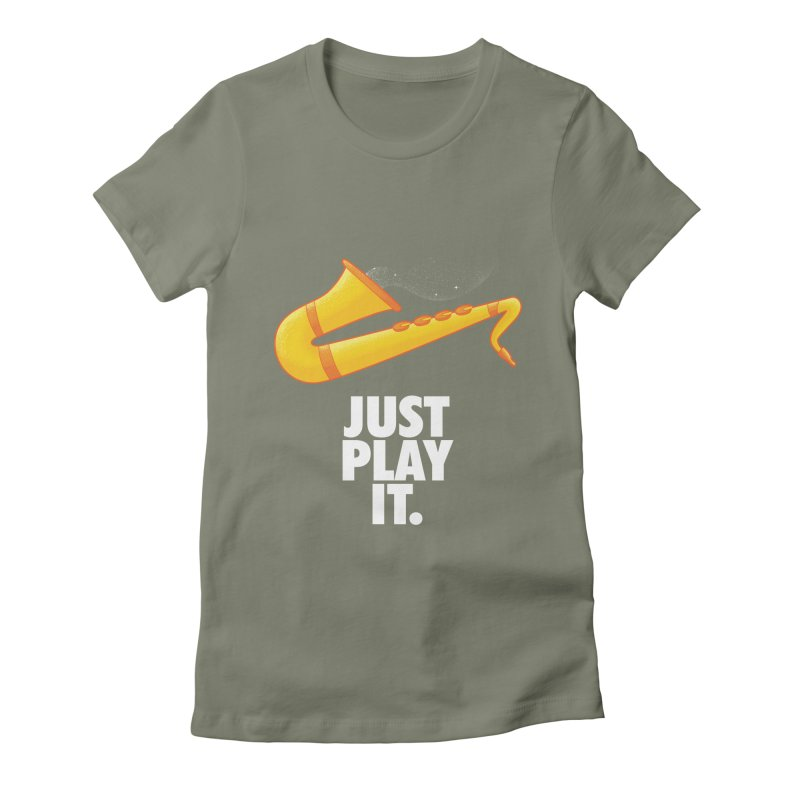 Just Play It Women's Fitted T-Shirt by Opippi