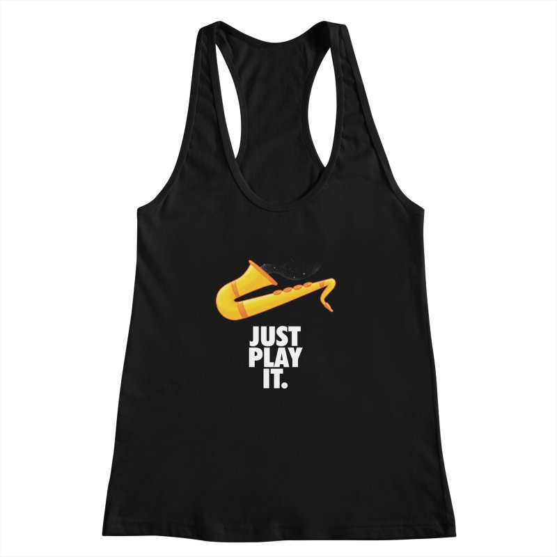 Just Play It Women's Racerback Tank by Opippi