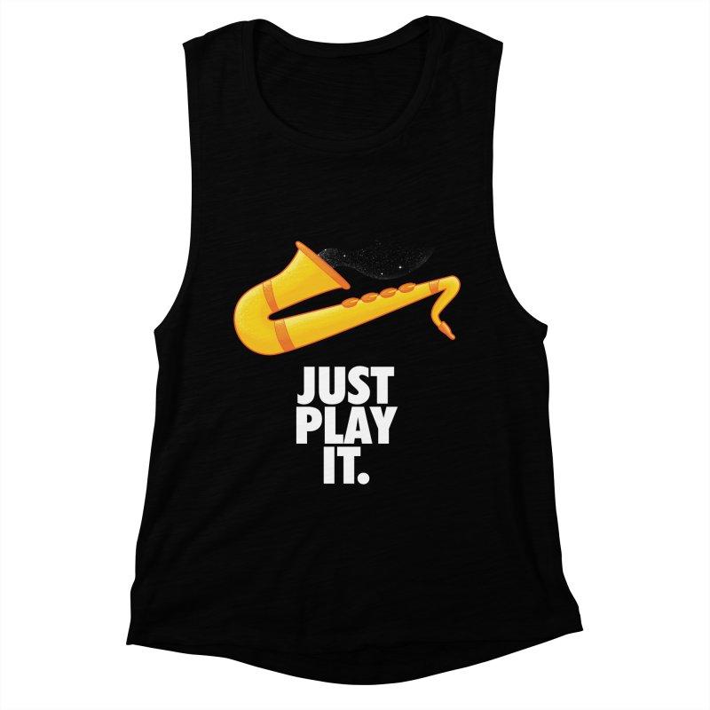 Just Play It Women's Muscle Tank by Opippi