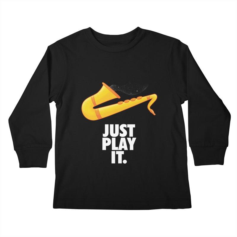 Just Play It Kids Longsleeve T-Shirt by Opippi