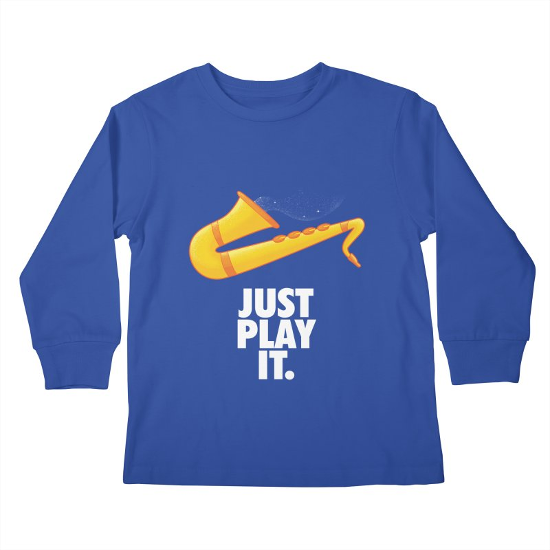 Just Play It Kids Longsleeve T-Shirt by Opippi