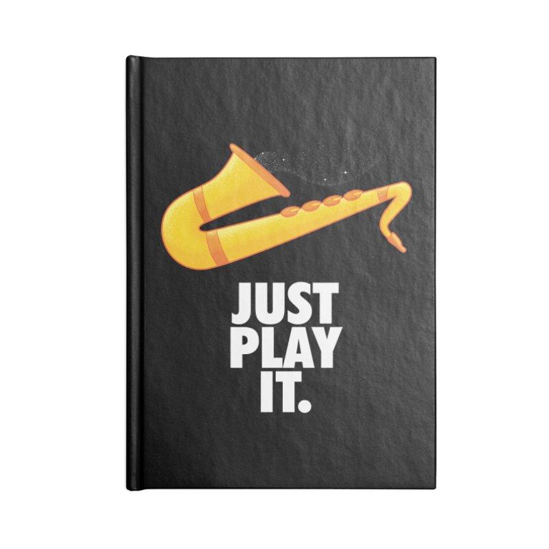 Just Play It Accessories Lined Journal Notebook by Opippi