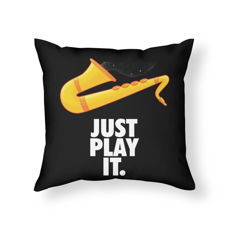 Just Play It Home Throw Pillow by Opippi