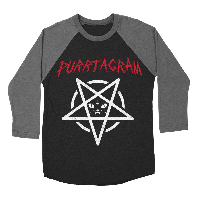 PURRTAGRAM Men's Baseball Triblend Longsleeve T-Shirt by Opippi
