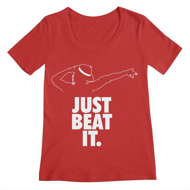 Just Beat it Women's Regular Scoop Neck by Opippi