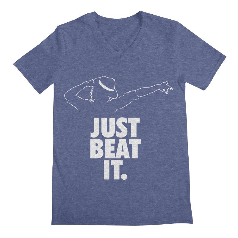 Just Beat it Men's Regular V-Neck by Opippi
