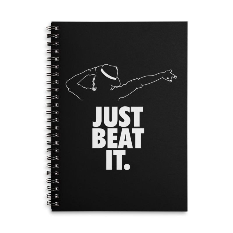 Just Beat it Accessories Lined Spiral Notebook by Opippi