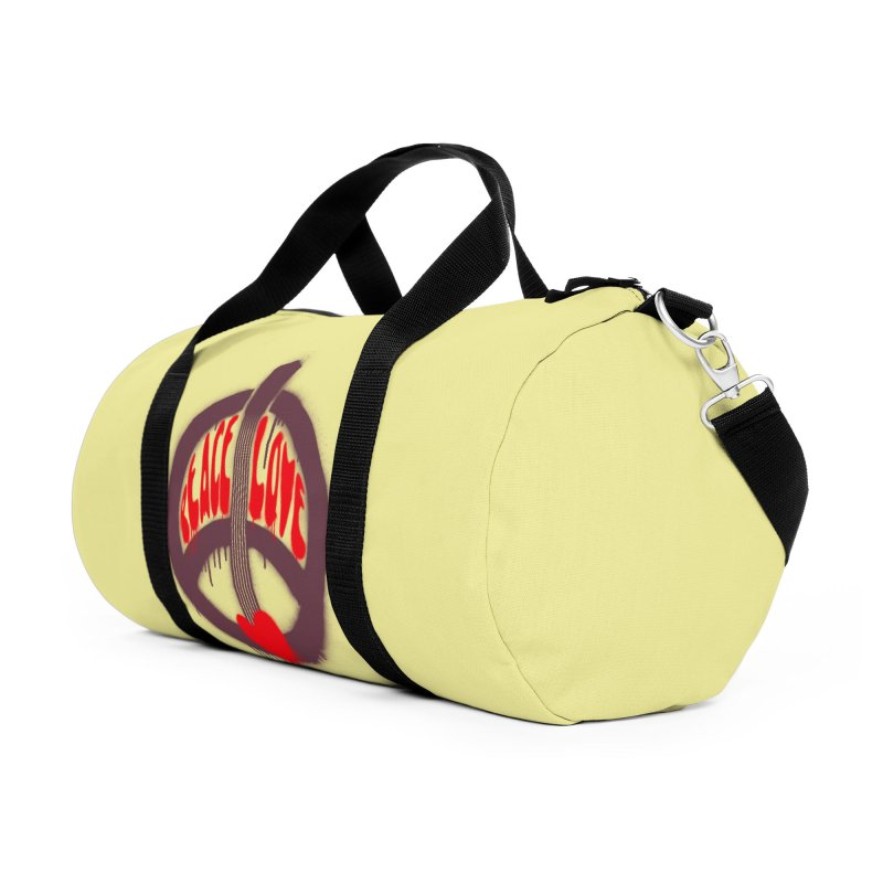 Peace, love and Music Accessories Duffel Bag Bag by Opippi