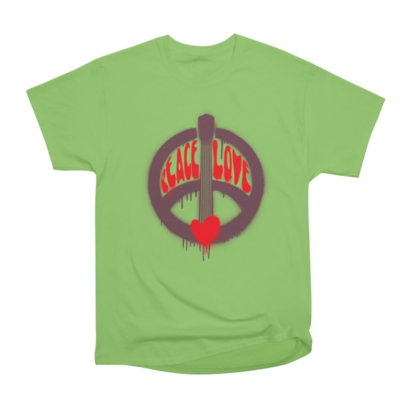 Peace, love and Music Men's Heavyweight T-Shirt by Opippi