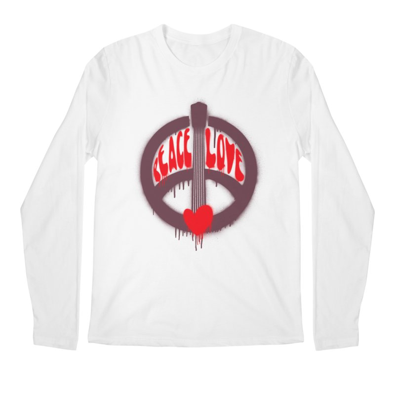 Peace, love and Music Men's Regular Longsleeve T-Shirt by Opippi