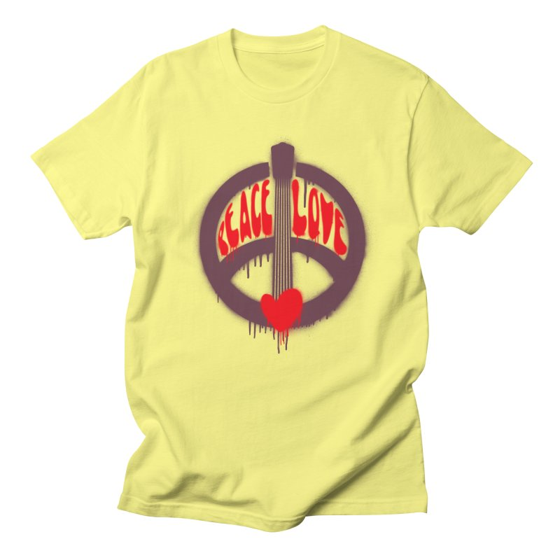 Peace, love and Music Men's Regular T-Shirt by Opippi