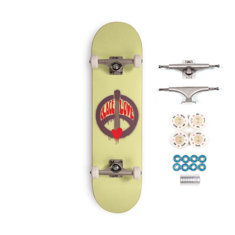 Peace, love and Music Accessories Complete - Premium Skateboard by Opippi