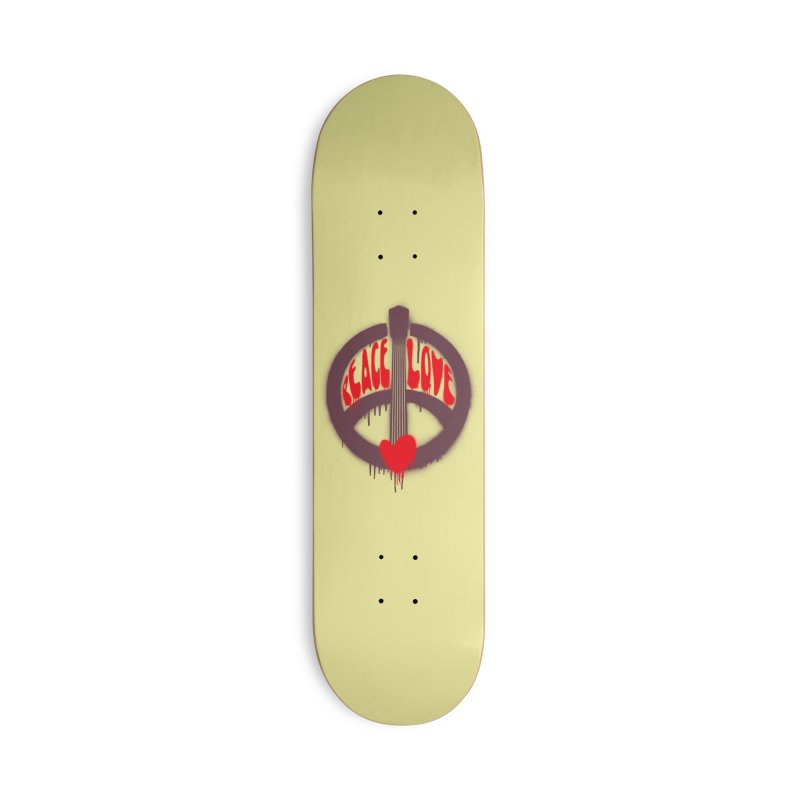 Peace, love and Music Accessories Deck Only Skateboard by Opippi