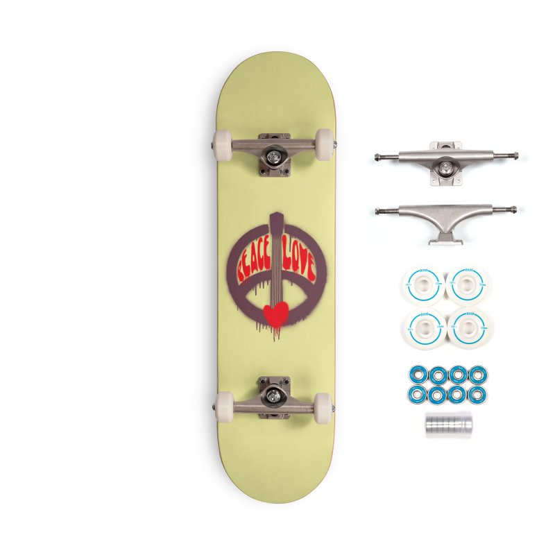 Peace, love and Music Accessories Complete - Basic Skateboard by Opippi