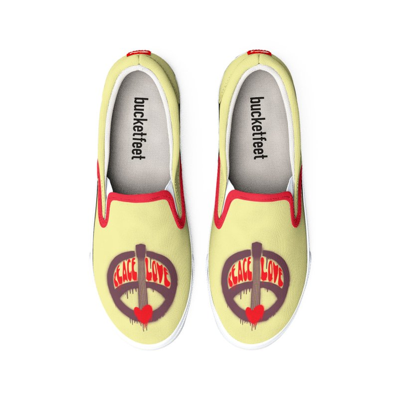 Peace, love and Music Men's Shoes by Opippi