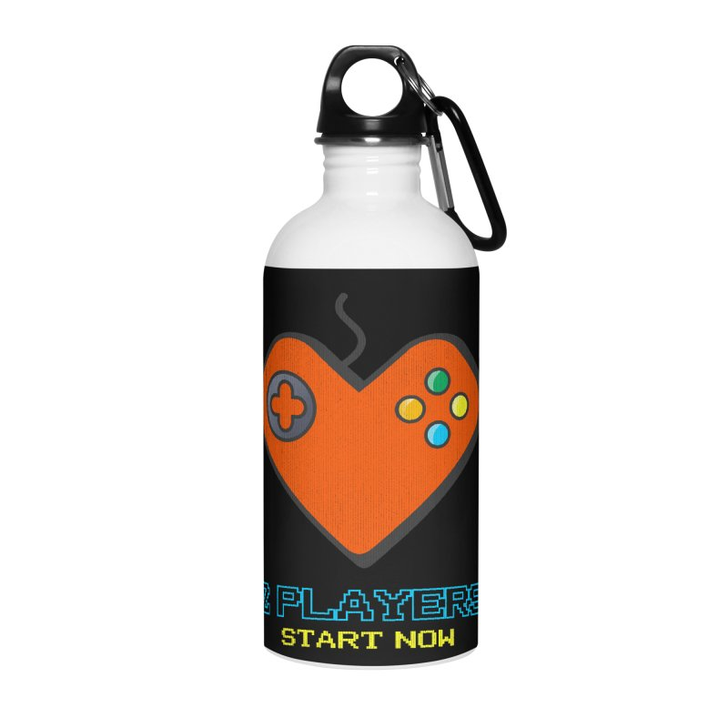 2 players start now matching Gamer Couple Accessories Water Bottle by Opippi