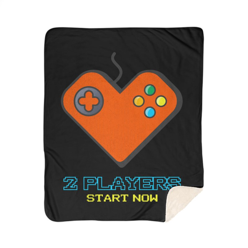 2 players start now matching Gamer Couple Home Sherpa Blanket Blanket by Opippi