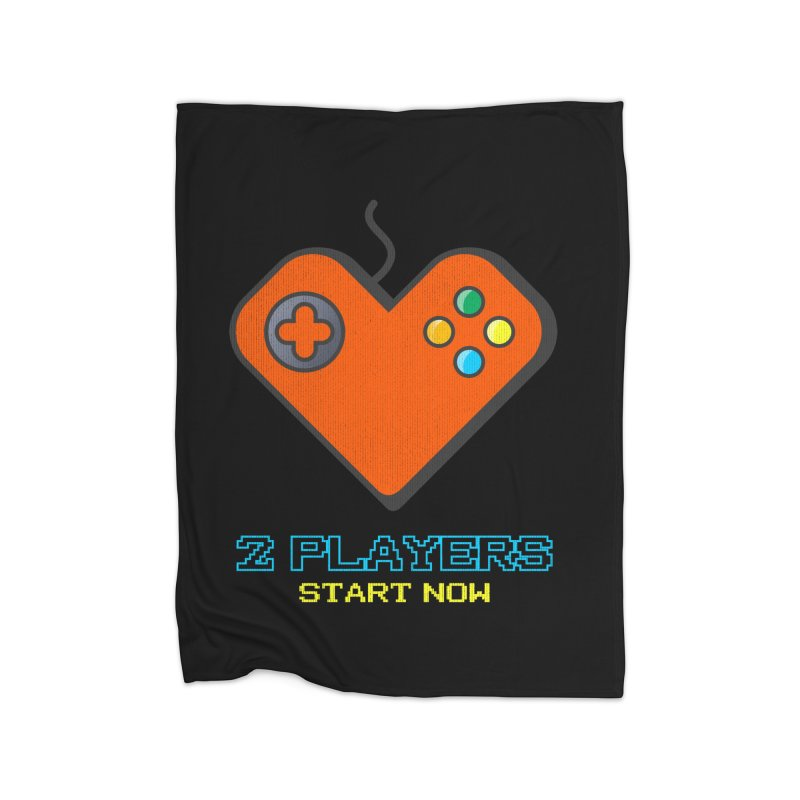 2 players start now matching Gamer Couple Home Fleece Blanket Blanket by Opippi