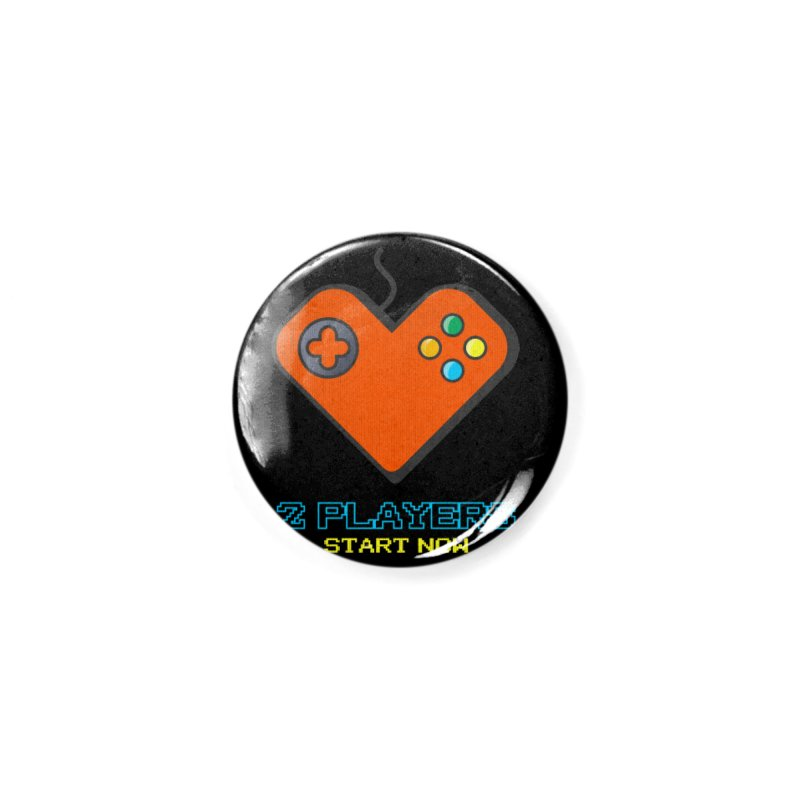 2 players start now matching Gamer Couple Accessories Button by Opippi