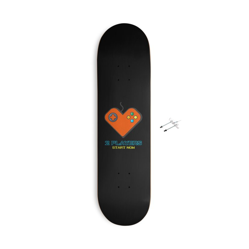 2 players start now matching Gamer Couple Accessories With Hanging Hardware Skateboard by Opippi