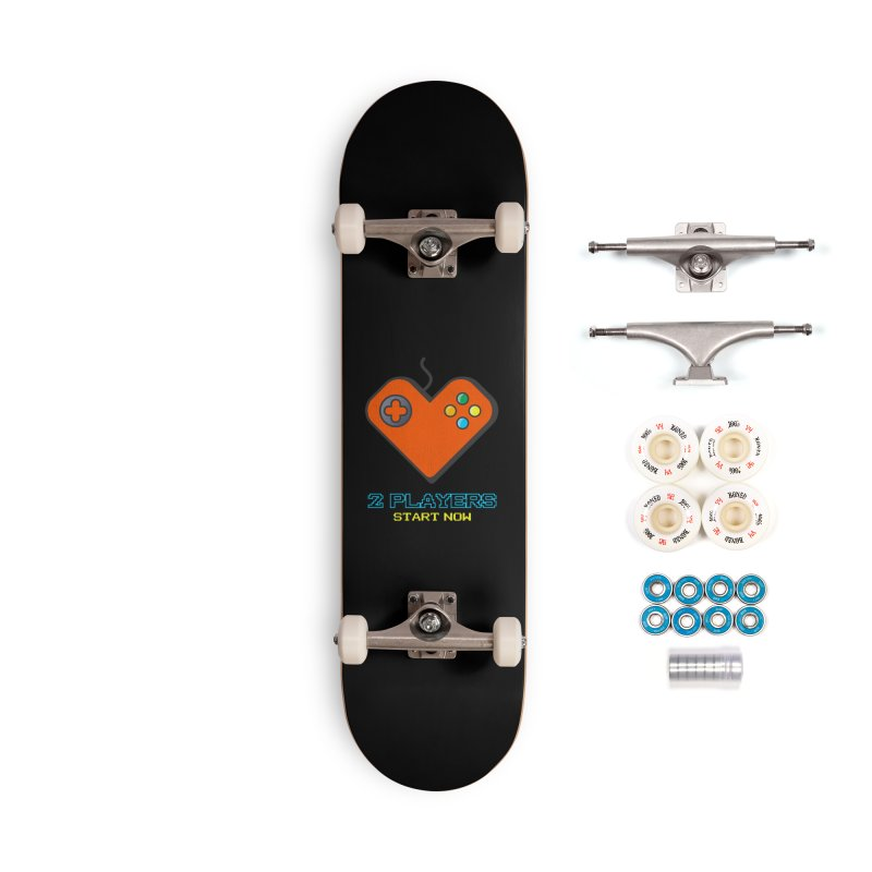 2 players start now matching Gamer Couple Accessories Complete - Premium Skateboard by Opippi