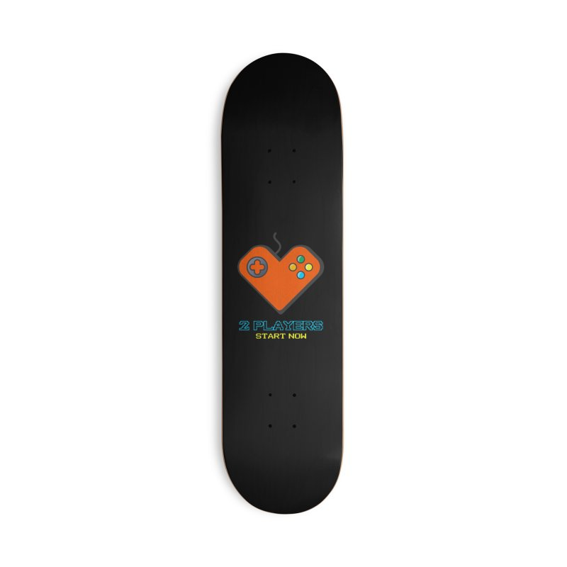 2 players start now matching Gamer Couple Accessories Deck Only Skateboard by Opippi