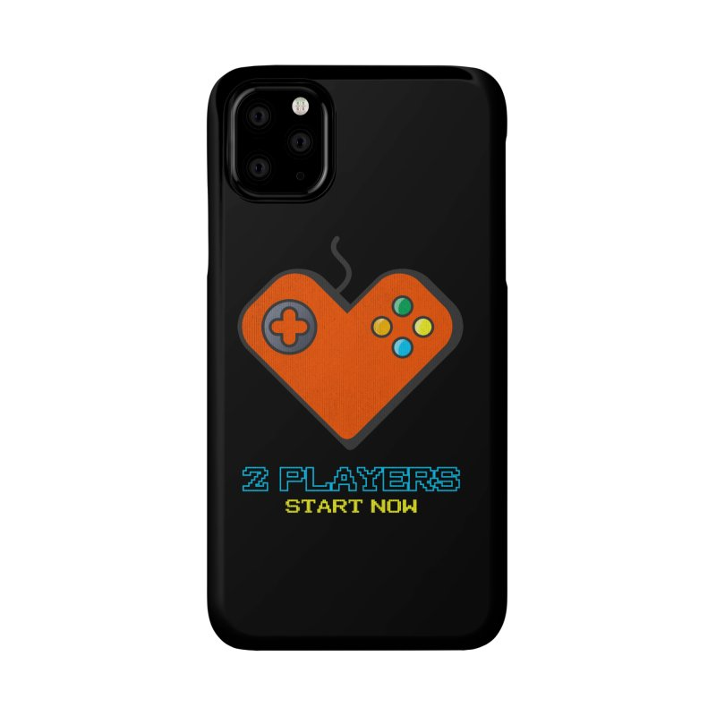 2 players start now matching Gamer Couple Accessories Phone Case by Opippi