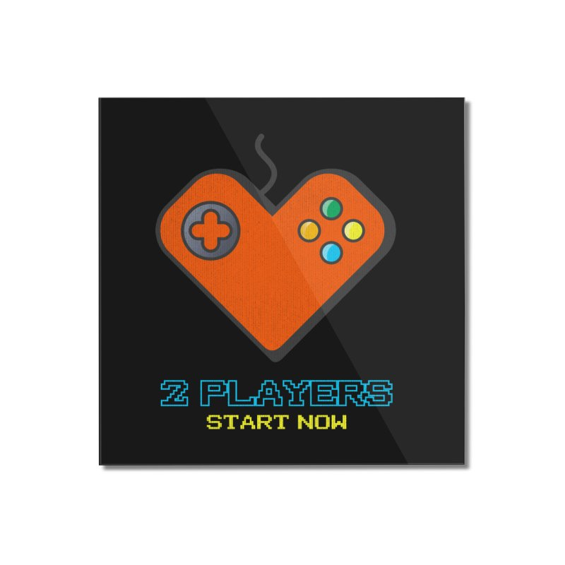 2 players start now matching Gamer Couple Home Mounted Acrylic Print by Opippi