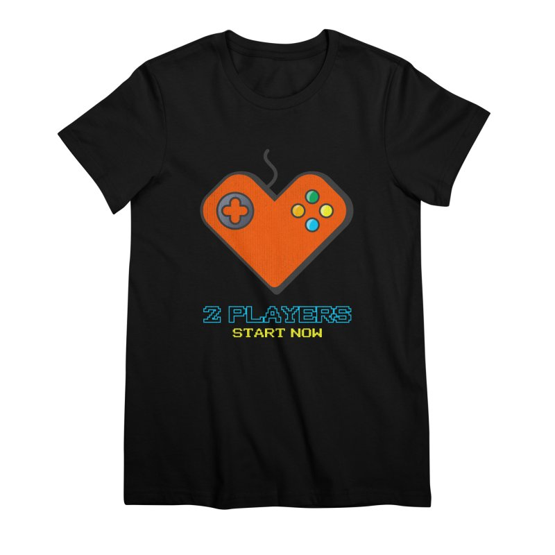 2 players start now matching Gamer Couple Women's Premium T-Shirt by Opippi